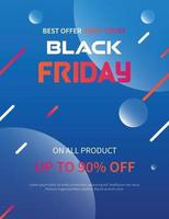 black Friday promotion advertising banner or poster vector