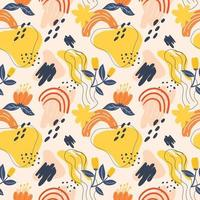 seamless pattern flowers and element design vector