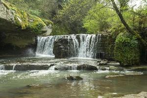 waterfall of fosso castello in soriano nel cimino viterbo photo