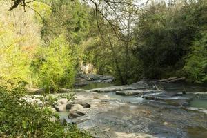 river of fosso castello in soriano nel cimino viterbo photo