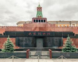 Lenin Mausoleum on Red Square in Moscow photo