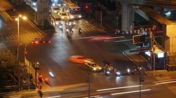 timelapse des rues de la ville de bangkok, thaïlande video