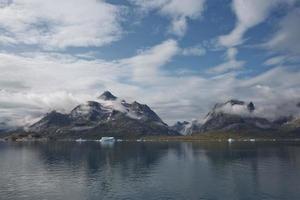 Coastline of the Prince Christian Sund Passage in Greenland photo