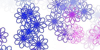 Light Pink Blue vector natural artwork with flowers