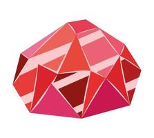 red ruby icon vector