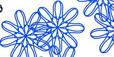 Light BLUE vector natural backdrop with flowers