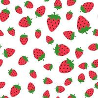 Seamless Strawberry pattern for Wedding, anniversary, birthday and party. Design for banner, poster, card, invitation and scrapbook. Vector Illustration EPS10