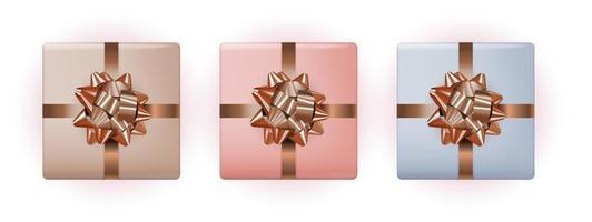 caja de regalo con lazo y cinta. ilustración vectorial eps10 vector