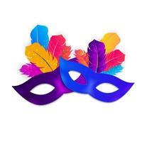 Carnaval Mask Icon Isolated on White Background. Vector Illustration EPS10