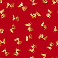 Abstract Seamless Pattern Background with cock. Vector Illustration