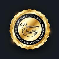 Premium Quality Golden Label Sign. Vector Illustration