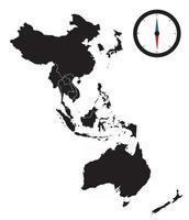 Modern Regional Comprehensive Economic Partnership RCEP map. Vector Illustration
