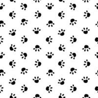 Animal Paw Seamless Pattern Simple Background. Vector Illustration