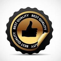 Best Choice Golden Sign Label. Vector Illustration