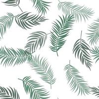 Tropical Palm Leaves Seamless Pattern Background. Vector Illustration