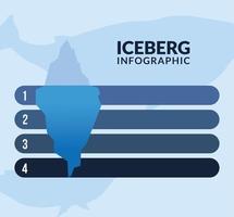 iceberg infographic 1 2 3 4 icon vector design