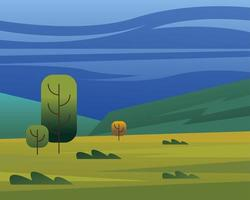 landscape of trees and shrubs vector design