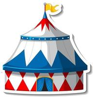 Sticker template with Circus Tent isolated vector