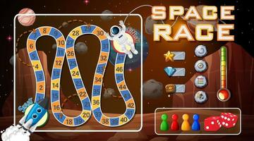Board game template with space theme vector