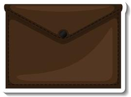 A sticker template with a document bag isolated vector
