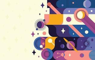 Geometric Space Element Background Concept vector