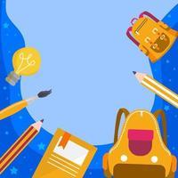 Kids Equipment Background vector