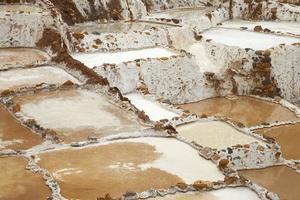 Salina de Maras, el tradicional campo de sal inca cerca de Cusco, Peru. foto