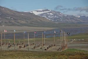 Landscape near Longyearbyen, Spitsbergen, Norway photo
