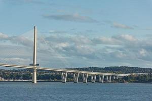The new Queensferry Crossing bridge in Edinburgh Scotland photo