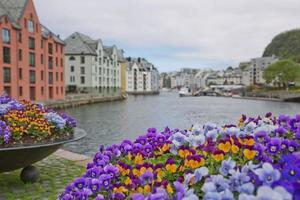 View of Alesund in Norway photo