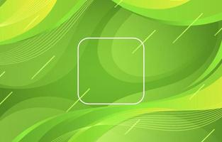 Abstract Wave Green Background vector