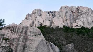 View to the big rock Ulsanbawi in Seoraksan National Park. South Korea photo