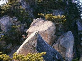 Big stones on the high peak of Seoraksan Mountains. South Korea. photo