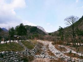 parque nacional de seoraksan. Corea del Sur. diciembre de 2017 foto