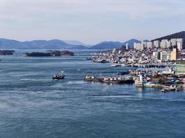puerto de la ciudad de yeosu. Corea del Sur foto