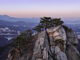 Landscape in the Korean mountains at Seoraksan National Park photo