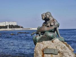 A statue of mermaids in Sokcho city. South Korea. photo