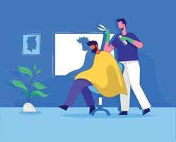 Barber shop flat illustration design vector concept