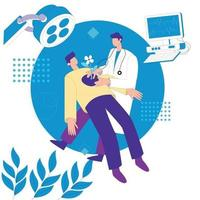 Doctor in operation theatre vector illustration concept