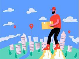 Home delivery illustration concept vector