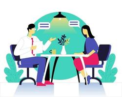 Interview taken by boss illustration concept vector