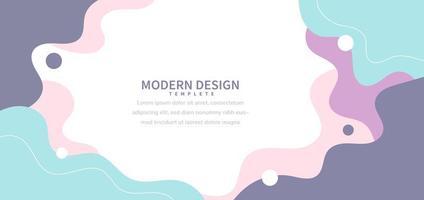 Fondo moderno con color pastel de forma fluida y línea de dibujo a mano sobre fondo blanco diseño minimalista plano. vector