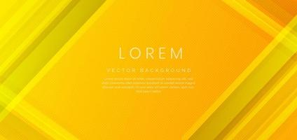 Abstract yellow geometric diagonal overlay layer background. vector