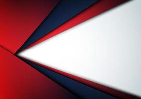 Abstract template blue and red elegant geometric layer background. Modern concept. vector