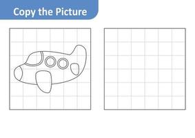 Copy the Picture Worksheet for Kids, Plane Vector