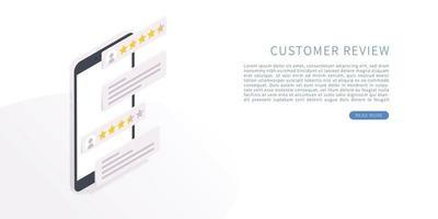 Customer review concept vector