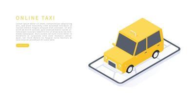 servicio de taxi online vector