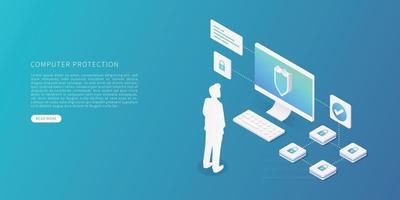 Computer data protection vector