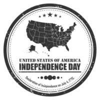America map stamp symbol . Grunge design . 4th of july independence day concept . Vector .