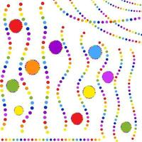 Set of isolated flat coloured garlands round. Suitable for design. vector
